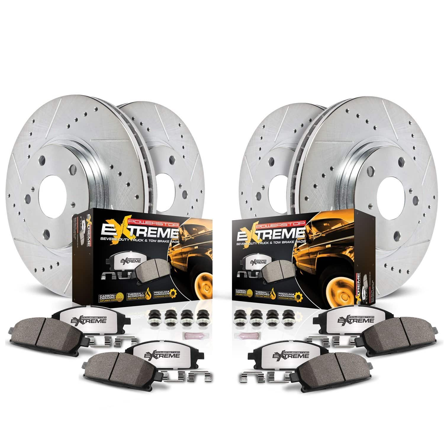 Power Stop K6268-36 Front & Rear Z36 Truck and Tow Brake Kit
