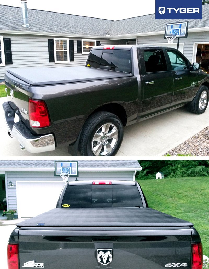 TYGER® Tri-Fold Pickup Tonneau Cover for Ram 1500